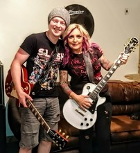 Deb with Kyle, Theia frontman