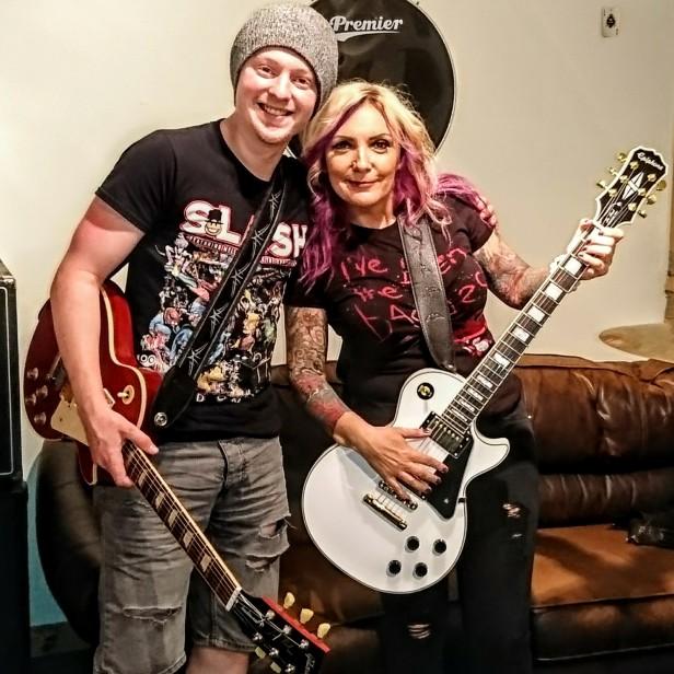 Deb with Kyle, Theia frontman